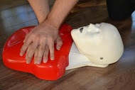 Conducting CPR on an emergency case